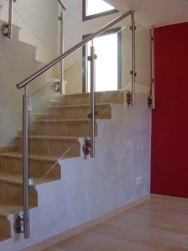 Galeria barandas aceros y aluminios for Barandas de vidrio y acero